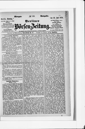 Berliner Börsen-Zeitung vom 23.07.1876