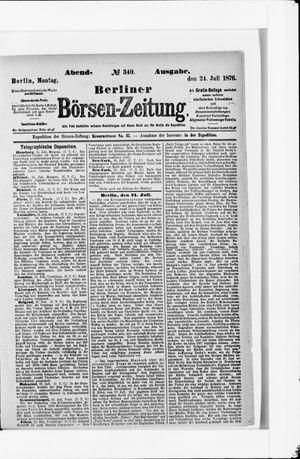Berliner Börsen-Zeitung vom 24.07.1876