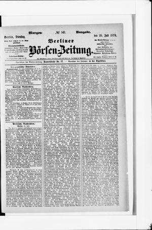 Berliner Börsen-Zeitung vom 25.07.1876