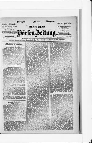 Berliner Börsen-Zeitung vom 26.07.1876