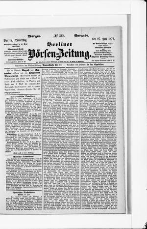 Berliner Börsen-Zeitung vom 27.07.1876