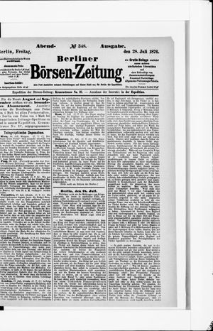 Berliner Börsen-Zeitung vom 28.07.1876