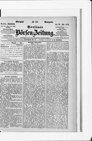 Berliner Börsen-Zeitung vom 29.07.1876
