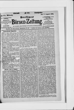 Berliner Börsen-Zeitung vom 02.08.1876