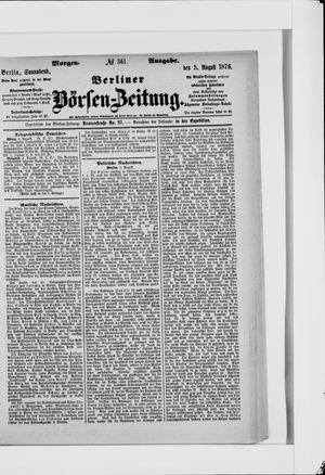 Berliner Börsen-Zeitung vom 05.08.1876