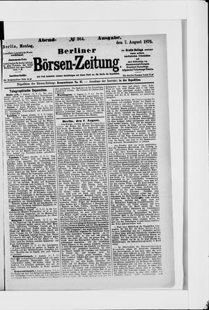 Berliner Börsen-Zeitung vom 07.08.1876