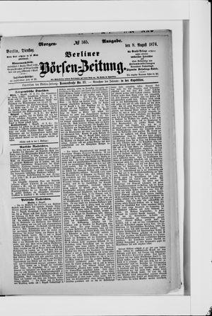 Berliner Börsen-Zeitung vom 08.08.1876