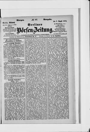 Berliner Börsen-Zeitung vom 09.08.1876