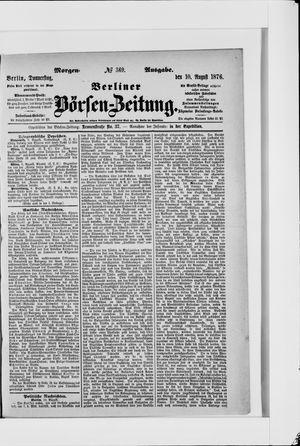 Berliner Börsen-Zeitung vom 10.08.1876