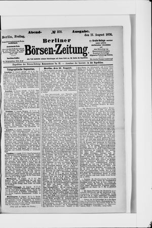 Berliner Börsen-Zeitung vom 11.08.1876