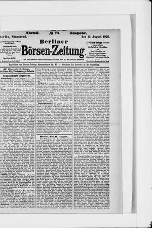 Berliner Börsen-Zeitung vom 12.08.1876