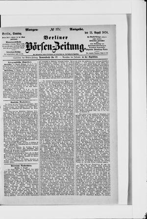 Berliner Börsen-Zeitung vom 13.08.1876