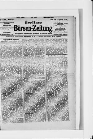 Berliner Börsen-Zeitung vom 14.08.1876