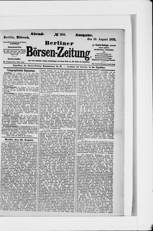 Berliner Börsen-Zeitung vom 16.08.1876