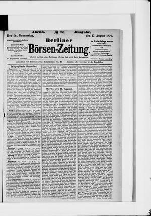 Berliner Börsen-Zeitung vom 17.08.1876