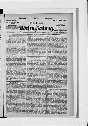 Berliner Börsen-Zeitung vom 18.08.1876
