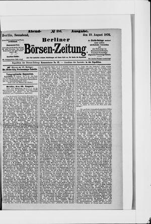 Berliner Börsen-Zeitung vom 19.08.1876