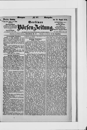 Berliner Börsen-Zeitung vom 20.08.1876