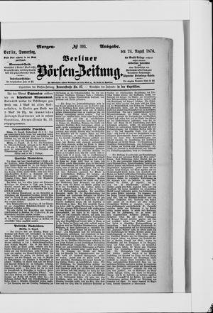 Berliner Börsen-Zeitung vom 24.08.1876
