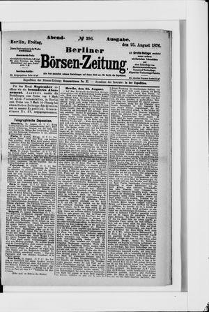 Berliner Börsen-Zeitung vom 25.08.1876