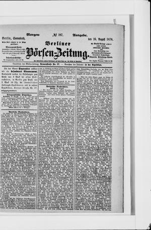 Berliner Börsen-Zeitung vom 26.08.1876