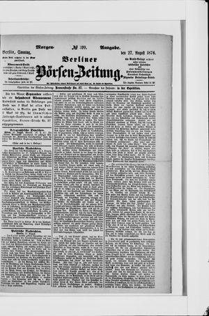 Berliner Börsen-Zeitung vom 27.08.1876