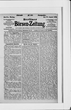 Berliner Börsen-Zeitung vom 28.08.1876
