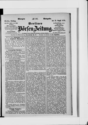 Berliner Börsen-Zeitung vom 29.08.1876