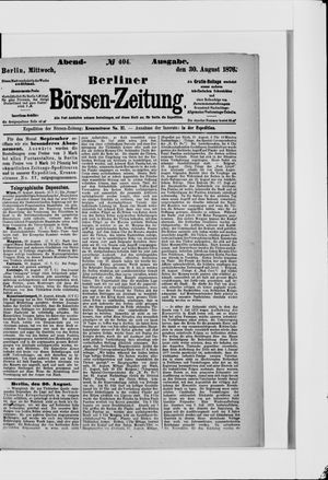 Berliner Börsen-Zeitung vom 30.08.1876
