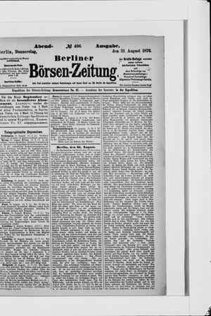 Berliner Börsen-Zeitung vom 31.08.1876