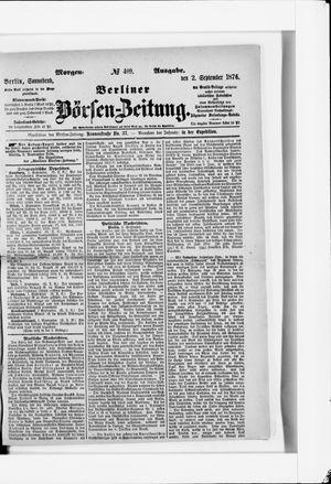 Berliner Börsen-Zeitung vom 02.09.1876