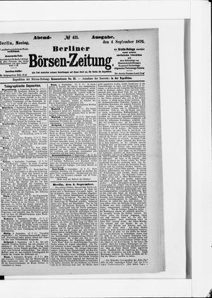 Berliner Börsen-Zeitung vom 04.09.1876