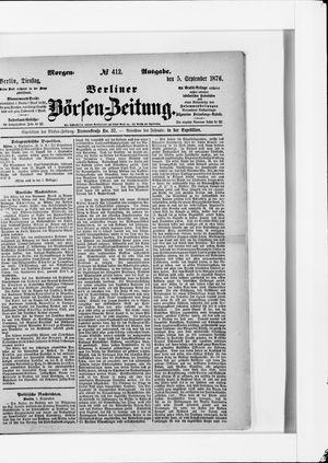 Berliner Börsen-Zeitung vom 05.09.1876