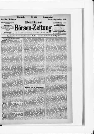 Berliner Börsen-Zeitung vom 06.09.1876