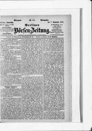 Berliner Börsen-Zeitung vom 07.09.1876