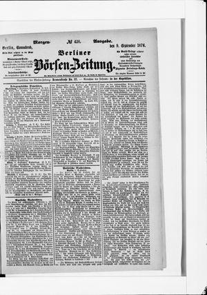 Berliner Börsen-Zeitung vom 09.09.1876
