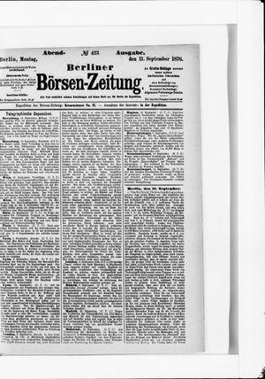 Berliner Börsen-Zeitung vom 11.09.1876