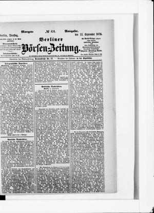 Berliner Börsen-Zeitung vom 12.09.1876