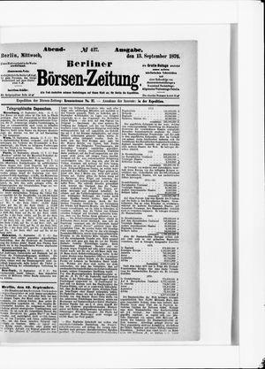 Berliner Börsen-Zeitung vom 13.09.1876