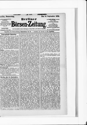 Berliner Börsen-Zeitung vom 14.09.1876