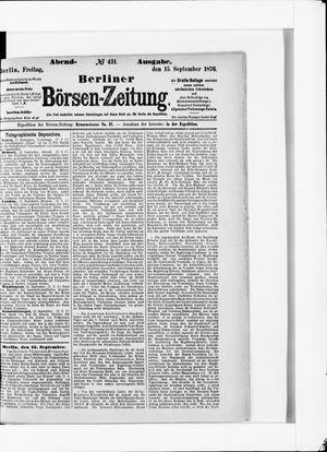 Berliner Börsen-Zeitung vom 15.09.1876