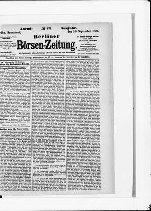Berliner Börsen-Zeitung vom 16.09.1876