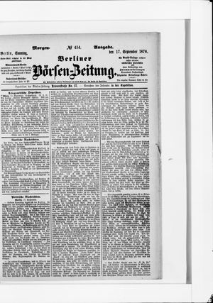 Berliner Börsen-Zeitung vom 17.09.1876