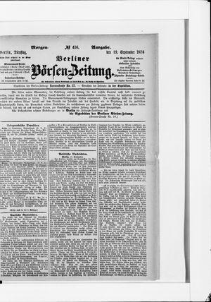 Berliner Börsen-Zeitung vom 18.09.1876