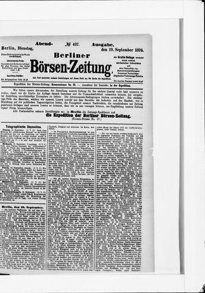Berliner Börsen-Zeitung vom 19.09.1876