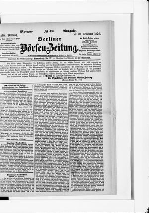 Berliner Börsen-Zeitung vom 20.09.1876