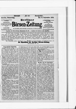 Berliner Börsen-Zeitung vom 21.09.1876