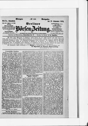 Berliner Börsen-Zeitung vom 23.09.1876