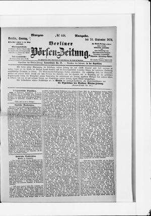 Berliner Börsen-Zeitung vom 24.09.1876