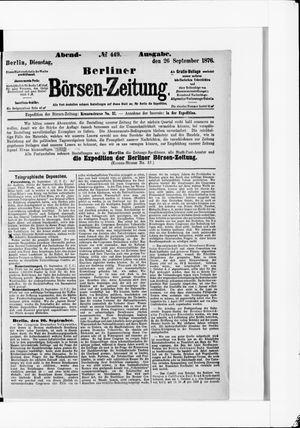 Berliner Börsen-Zeitung vom 26.09.1876